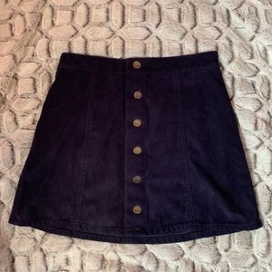 Express suede button up skirt